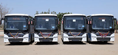 Luxury Bus Hire in Ahmedabad - 20, 29, 41 and 56 Seater Bus